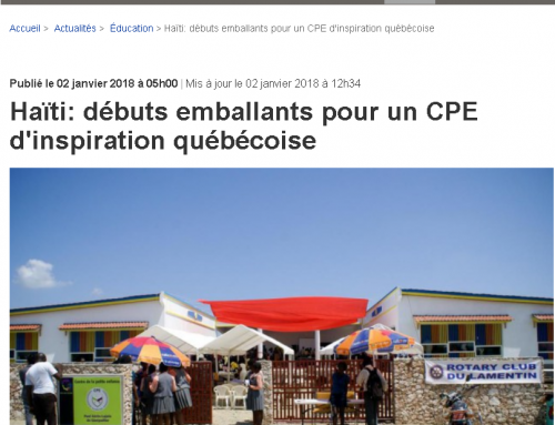 Conception du CPE Paul Gérin-Lajoie en Haïti – La Presse